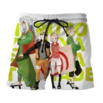 Naruto Sakura Jiraiya Tsunade Cartoon Style Summer Shorts