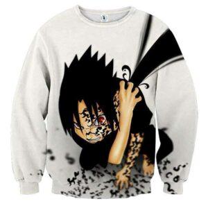 Naruto Sasuke Cursed Seal Sharingan Anime Theme Sweatshirt