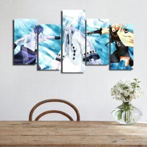 Naruto Sasuke Kaguya Otsutsuki Blue Asymmetrical 5pcs Canvas