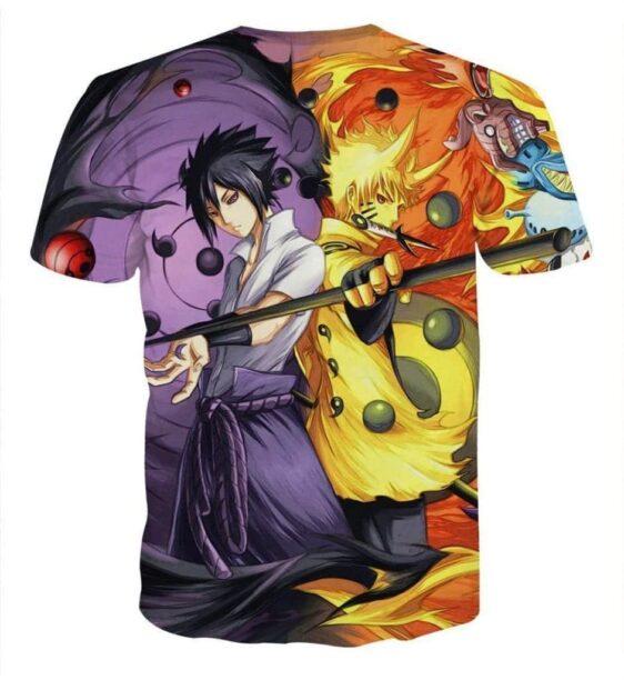 Naruto Sasuke Power Jinchuuriki Sharingan Pattern T-Shirt