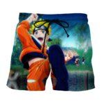 Naruto Sasuke Skura Cool Vibrant Scene Print Style Shorts