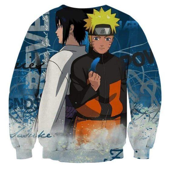 Naruto Sasuke Two Sides Japan Anime Amazing Cool Sweatshirt
