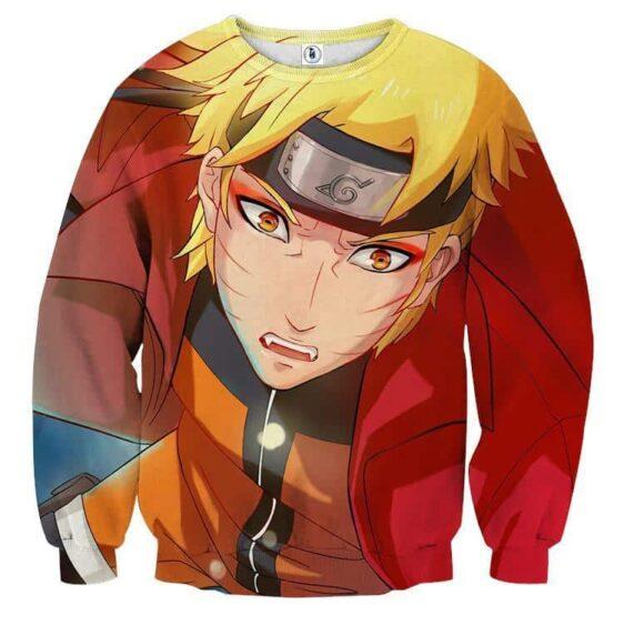 Naruto Shippuden Handsome Realistic Fan Art Sweatshirt