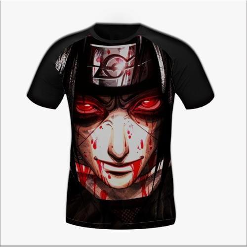 Naruto Shippuden Itachi Uchiha Revenge Sharingan Blood Print T-Shirt
