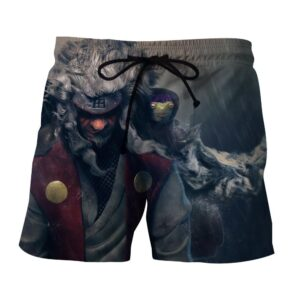 Naruto Shippuden Jiraiya Toads Sage Mode Dope Print Shorts