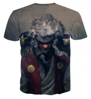 Naruto Shippuden Jiraiya Toads Sage Mode Dope Print T-Shirt