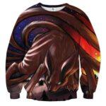 Naruto Shippuden Kurama Nine Tail Fox Fan Art Sweatshirt