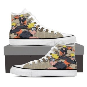 Naruto Shippuden Naruto Uzumaki Brown Anime Sneakers Shoes
