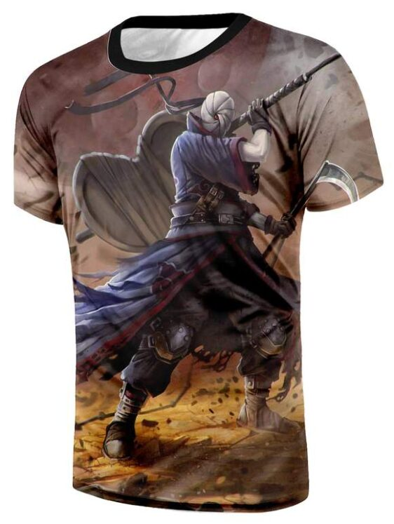 Naruto Shippuden Obito Uchiha Gunbai Weapon Cool 3D T-Shirt