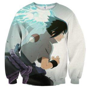Naruto Shippuden Sasuke Chidori Skill Anime Theme Sweatshirt
