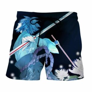 Naruto Shippuden Sasuke Katana Art Style Sketch Shorts
