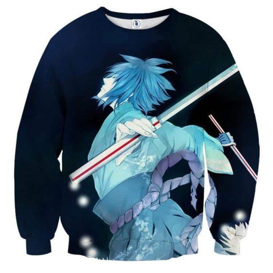 Naruto Shippuden Sasuke Katana Art Style Sketch Sweatshirt