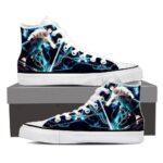 Naruto Shippuden Sasuke Lightning Sword Blue Sneakers Shoes