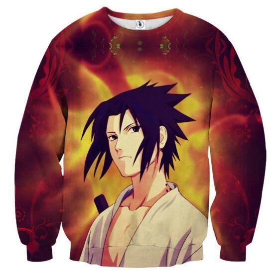 Naruto Shippuden Sasuke Uchiha Fire Release Cool Sweatshirt