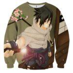 Naruto Shippuden Sasuke Uchiha Katana Sword Cool Sweatshirt