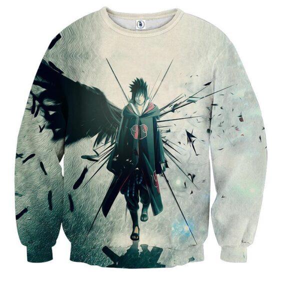 Naruto Shippuden Sasuke Uchiha Lone Ninja Printed Sweatshirt