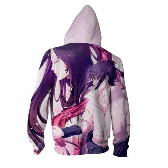 Naruto Shippuden Sasuke Uchiha Romantic Anime Zip Up Hoodie