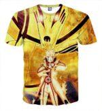 Naruto Sith Path Sage Mode Kurama Fox Awesome Style T-Shirt