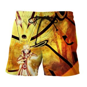 Naruto Sith Path Sage Mode Kurama Fox Awesome Summer Shorts