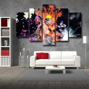 Naruto Team 7 Member Ninja Theme Streetwear Dope 5pcs Canvas