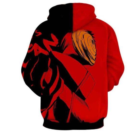 Naruto Tough Uchiha Obito Tobi Akatsuki Shinobi Red Hoodie