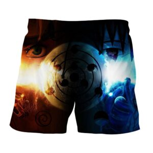 Naruto Uchiha Clan Eye Of The Moon Plan Vibrant Print Shorts
