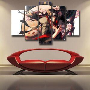 Naruto Uchiha Itachi Gorgeous Japanese Theme 5pcs Wall Art