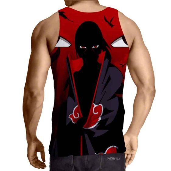 Naruto Uchiha Itachi Shadow Mangekyo Sharingan Red Tank Top