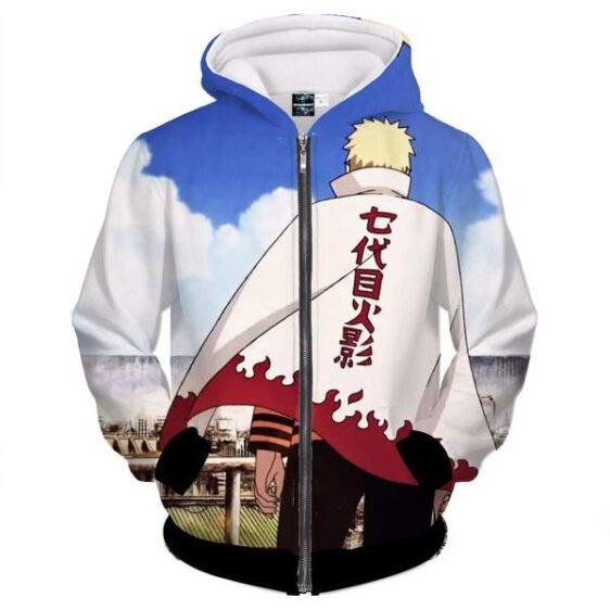 Naruto Uzumaki Amazing Seventh Hokage Nanadaime Zip Up Hoodie