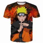 Naruto Uzumaki Combo Shadow Clone Jutsu Skill Vintage T-shirt