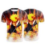 Naruto Uzumaki Kurama Kyuubi Chakra Orange Aura 3D T-Shirt