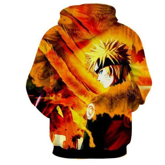 Naruto Uzumaki Kyuubi Fox Pattern Dope Art Winter Hoodie
