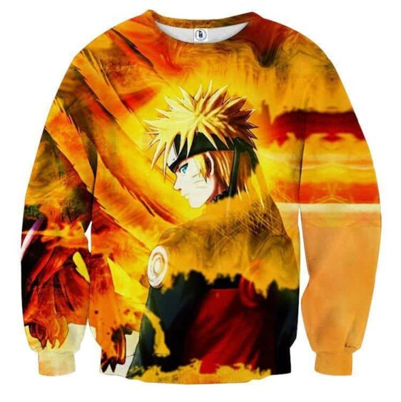 Naruto Uzumaki Kyuubi Fox Pattern Dope Art Winter Sweatshirt