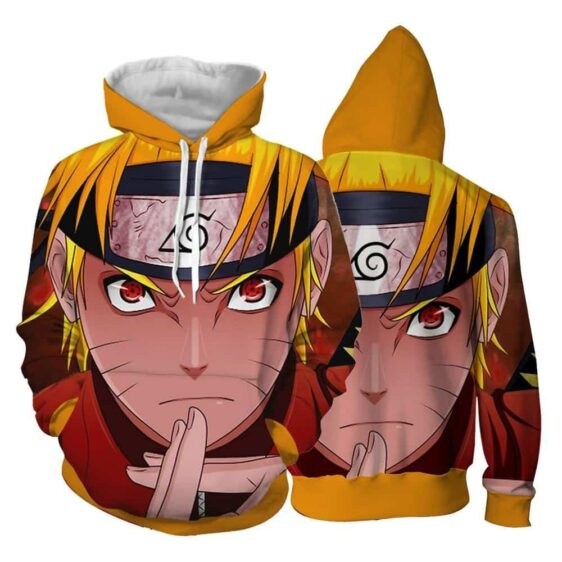Naruto With Sharingan Eyes Shadow Clone Technique 3D Hoodie
