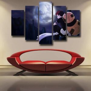 Naruto Young Gaara The Sand Lonely Ninja Artwork 5pcs Canvas