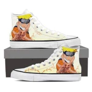 Naruto Uzumaki Legendary Konoha Ninja White Sneakers Shoes