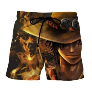 One Piece Blazing Fire Fist Ace Pirate Fierce Boardshorts