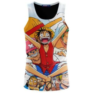 One Piece Complete Straw Hat Pirates Crew Awesome Tank Top