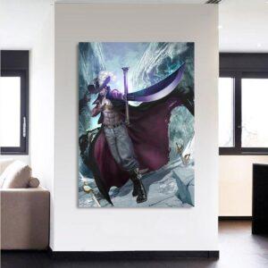 One Piece Dracule Hawk Eyes Mihawk Swordsman 1pc Wall Art