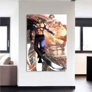 One Piece Edward Newgate Whitebeard Bisento 1pc Canvas Print