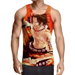 One Piece Handsome Monkey Ace Fire Fist Smiling Tank Top