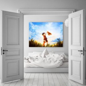 One Piece Happy Young Monkey D Luffy Sunset 1pc Canvas Print