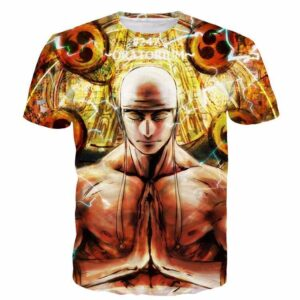 One Piece Invincible Electric Power God Enel Tomoe Drums T-Shirt