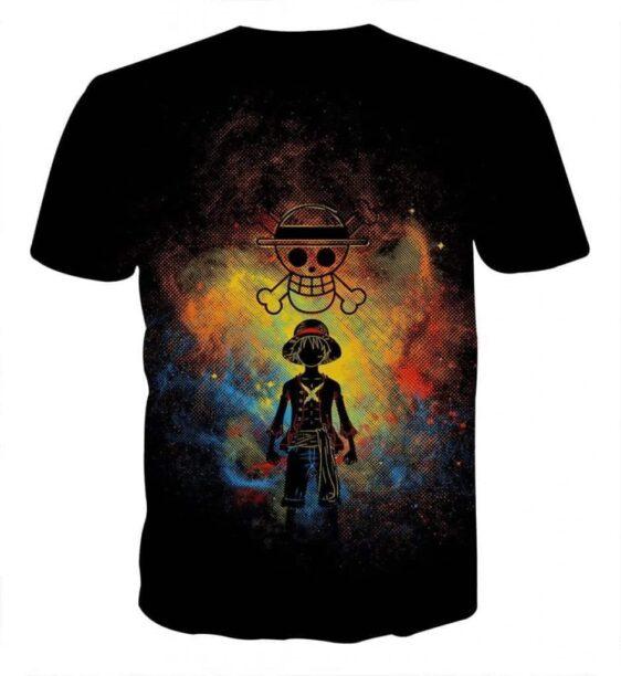 One Piece Luffy Straw Hat Pirate Crew Symbol Skull Tshirt