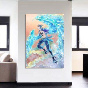 One Piece Marco The Phoenix Pirate Blue Portrait 1pc Canvas