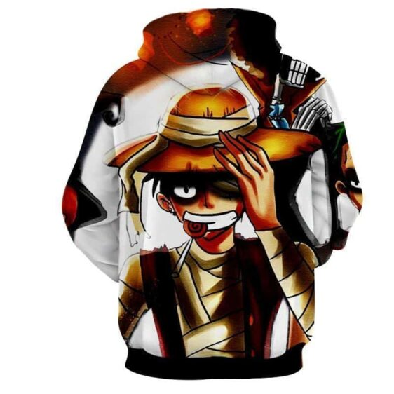 One Piece Pirate King Monkey D Luffy Dark Awesome Hoodie
