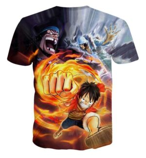 One Piece Pirate Warrior D.Luffy Marshall D.Teach Kuzan Characters T-shirt