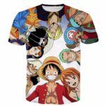 One Piece Pirate Warriors Monkey D.Luffy Funny Anime Characters T-shirt