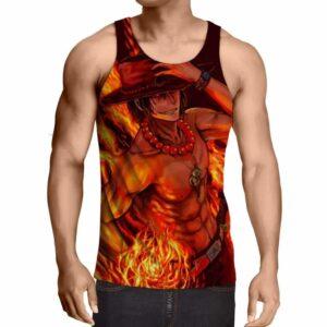 One Piece Portgas D Ace Fire Fist Power Trending Design Tank Top