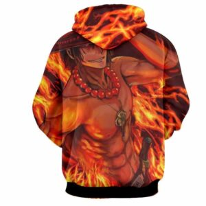 One Piece Portgas D. Ace Fire Fist Power Trending Design Hoodie